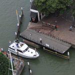 Einfahrt in den Yachthafen Maartensgat in Dordrecht