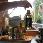 Kompasshaus-Beleuchtung Petrol