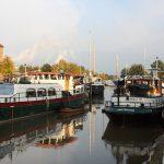 UInser Winterliegeplatz im Alten Hafen Weener