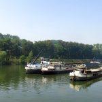 Vor der Werft «Sambre et Meuse» in Beez