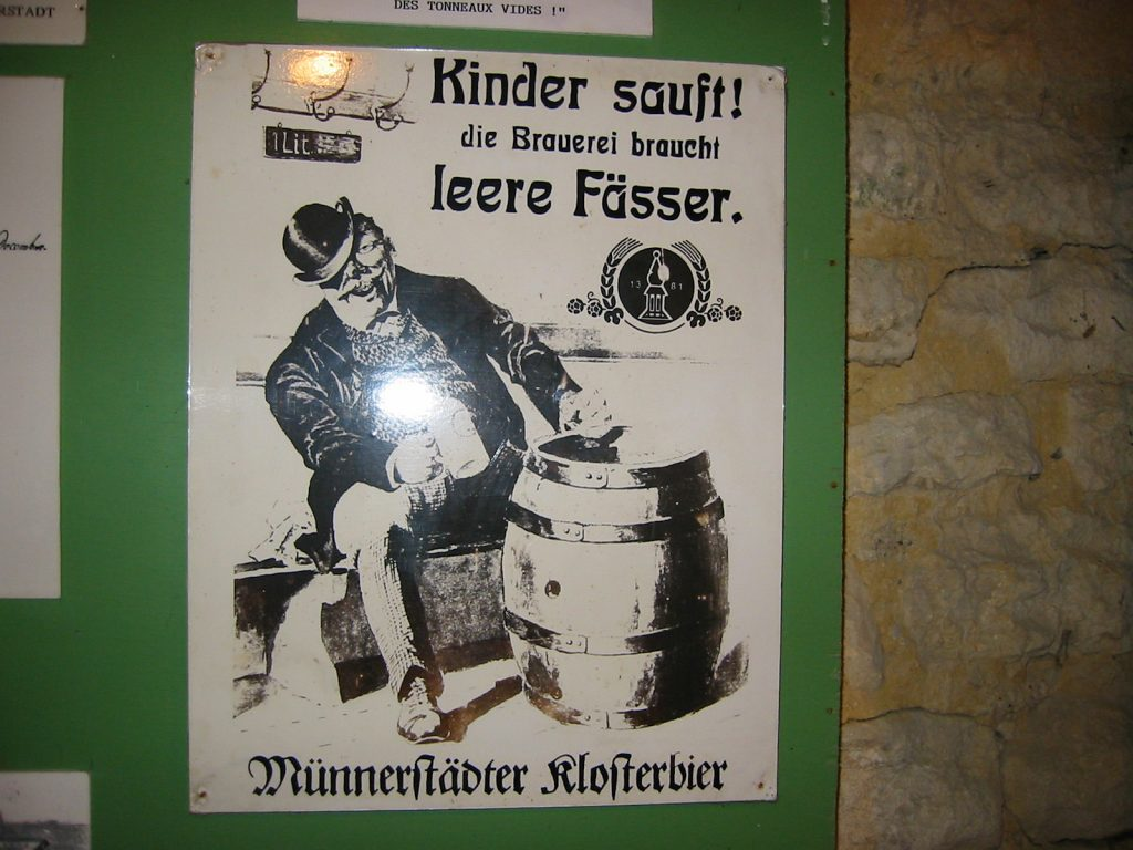 Bierreklame von einst