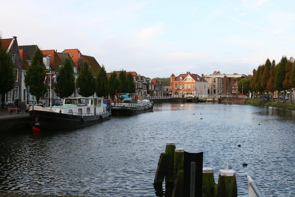 Liegeplatz an der Herengracht in Weesp
