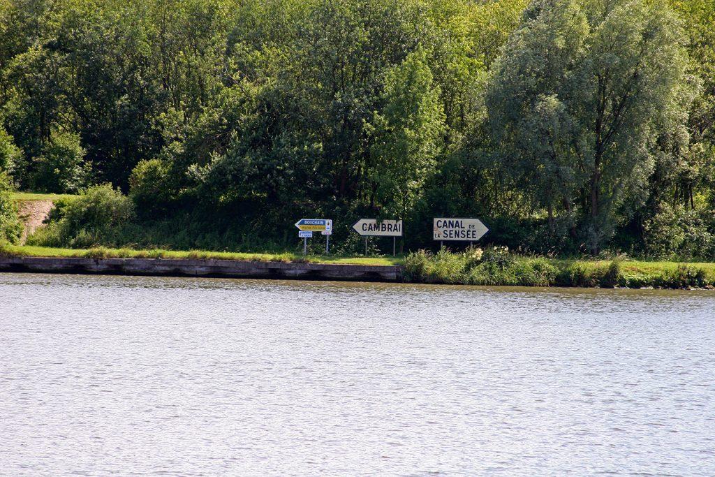 Beginn des Canal de Saint Quentin in Estrun