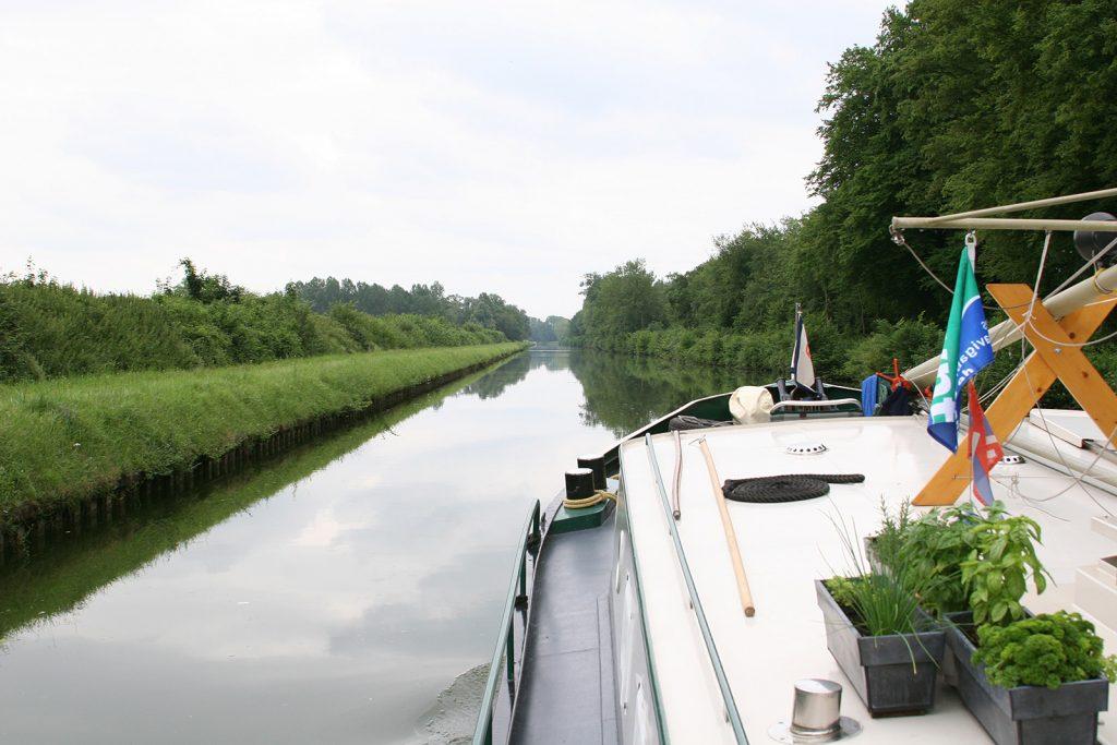 Einsamkeit auf dem alten Abschnitt des Canal de Saint Quentin