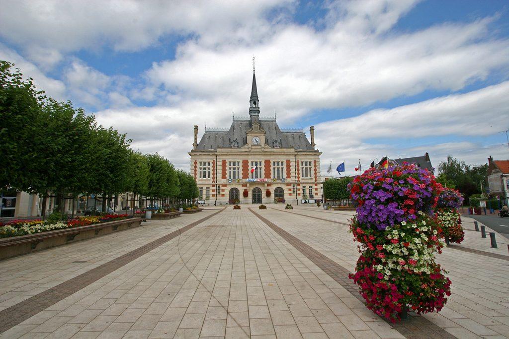Das Hôtel de Ville (Stadthaus) von Chauny
