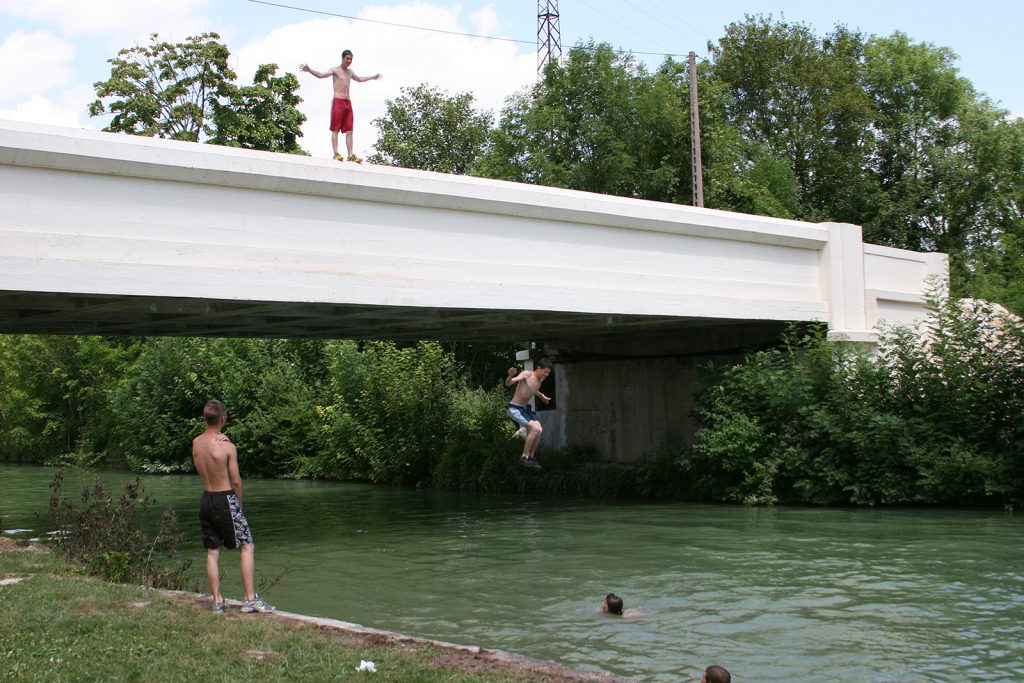 Der Kanal als Swimming-Pool