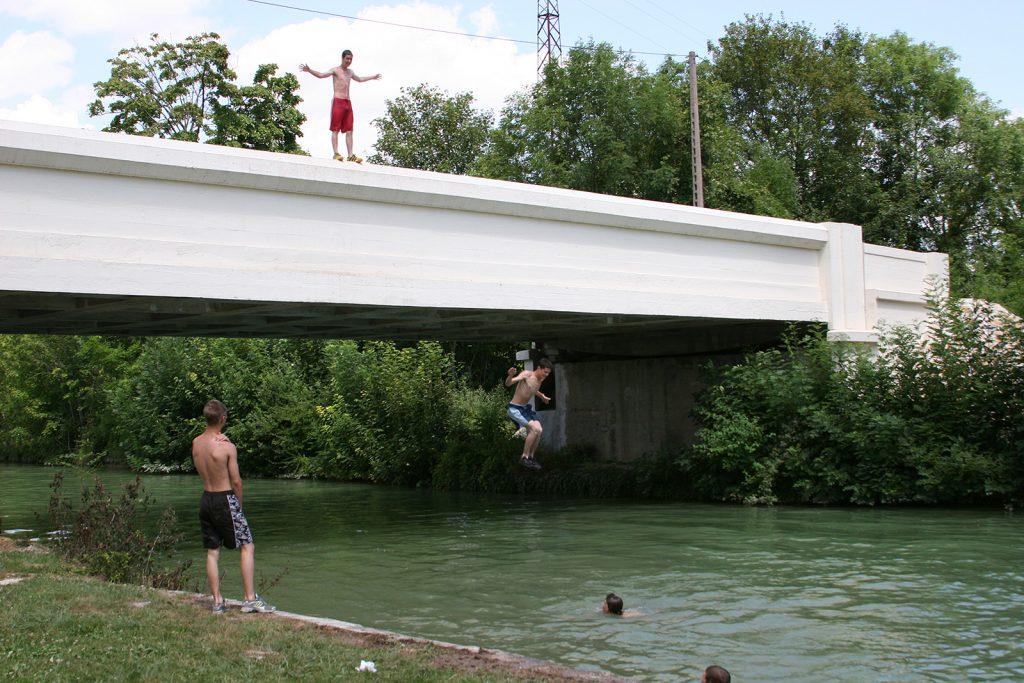 Der Kanal als Swimming-Pool