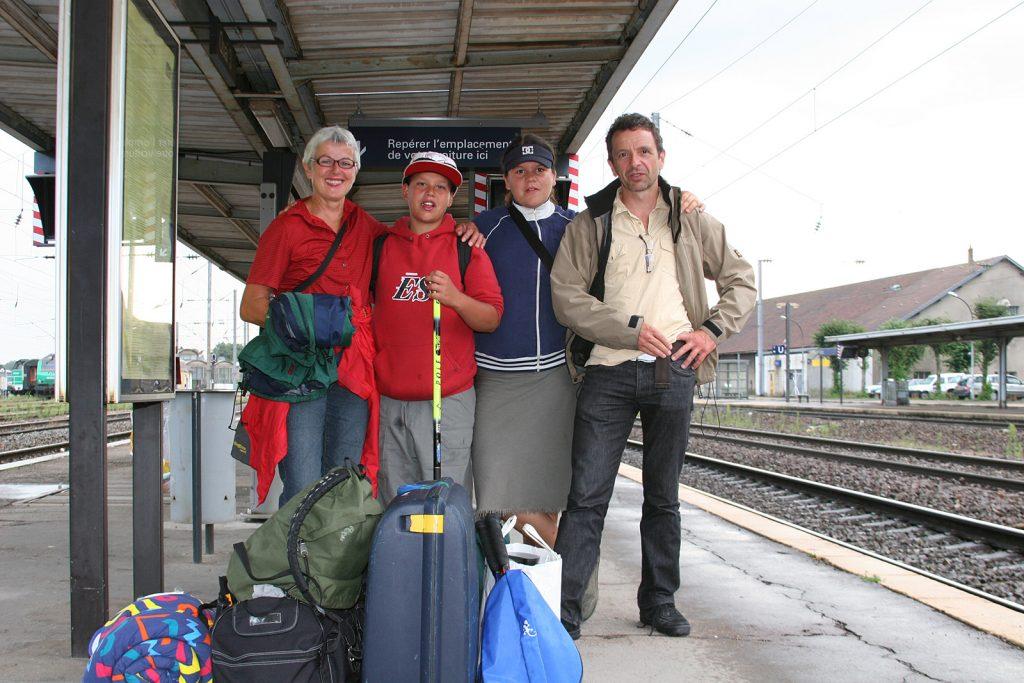 Abschied auf dem Bahnhof von Dole