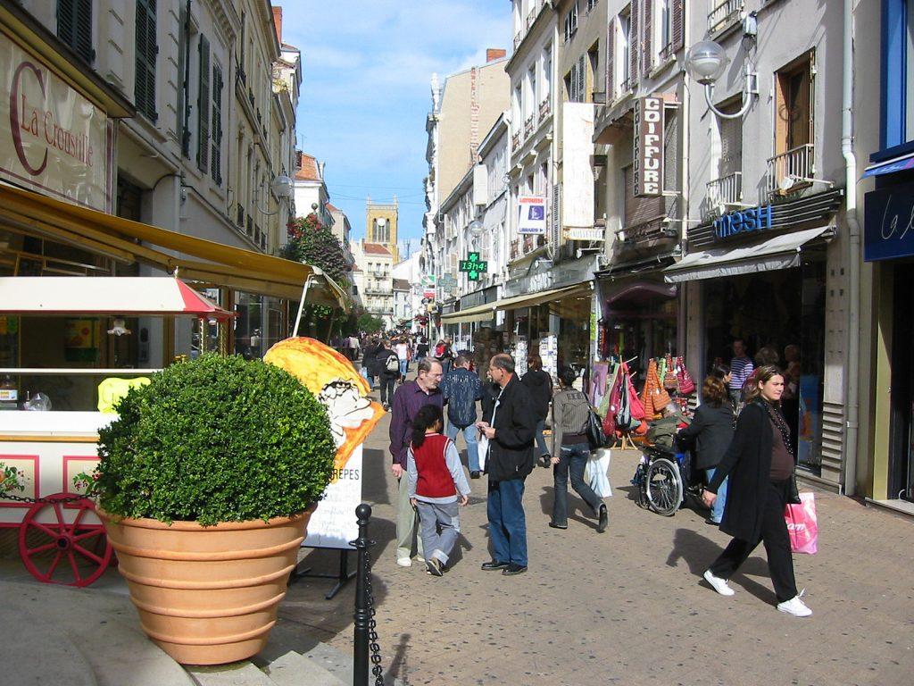 Einkaufsstrasse in Roanne