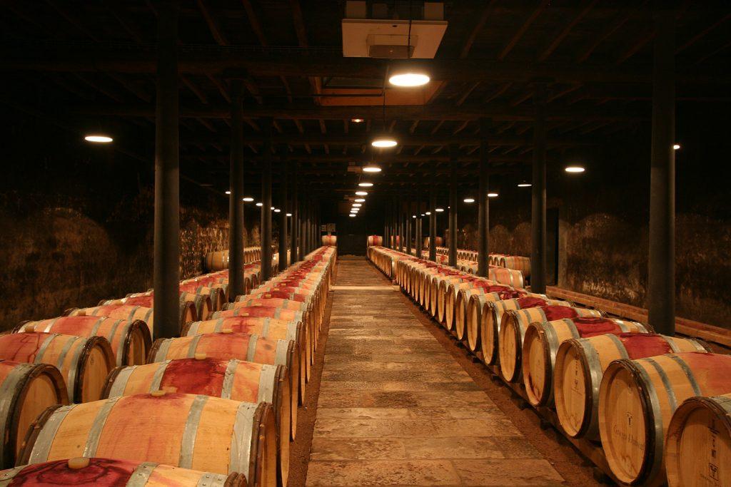 Weinkeller im Beaujolais
