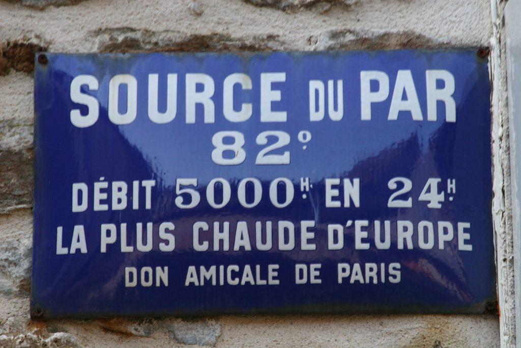 Die Quelle von Chaudes-Aigues