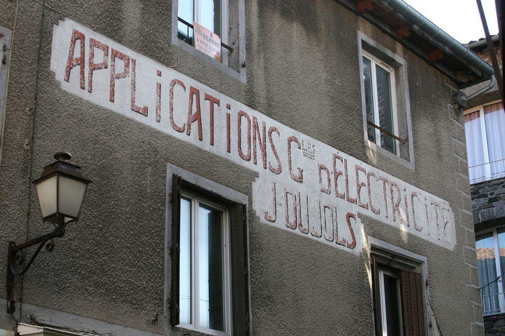 «Applications générales d'électricité» – das war einmal