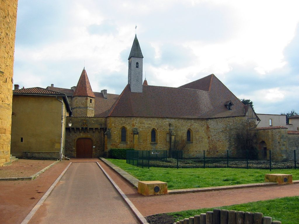 Die Benediktinerabtei von Charlieu, gegründet 870