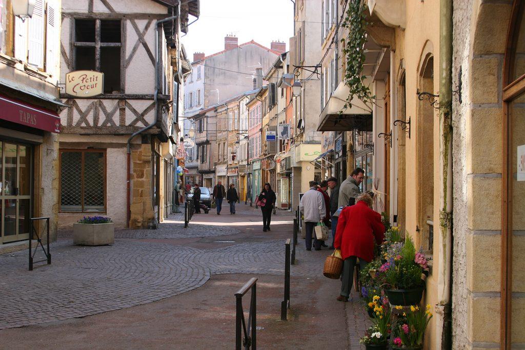Das historische Stadtzentrum von Charlieu