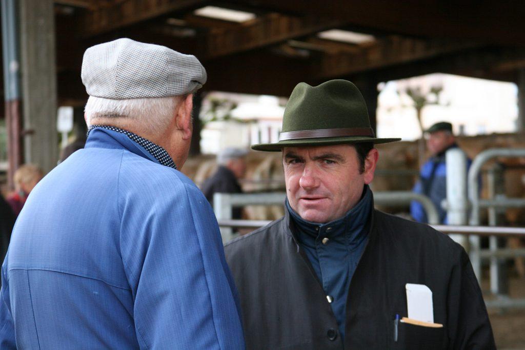 Bauer und Viehhändler