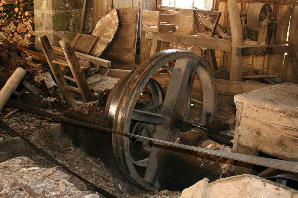 Das wassergetriebene Sägewerk wird immer noch benützt