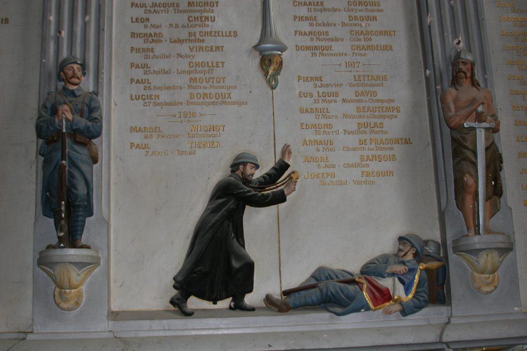 Gedenktafel in der Kirche von Châtillon-en-Bazois
