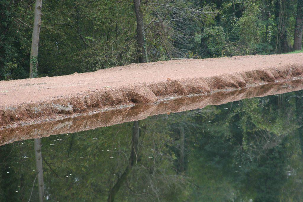 Erosion als Folge zu schnellen Fahrens