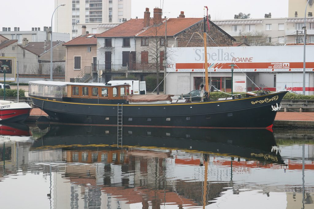 Die «Elizabeth» am Quai in Roanne