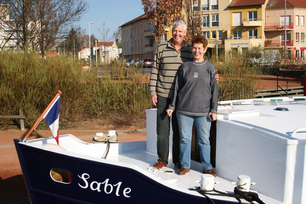 Unsere australischen Schiffsnachbarn Sally und Tony