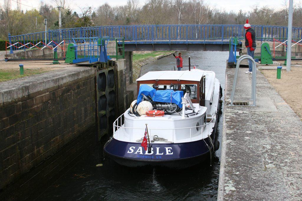 Die «Sable» verlässt Roanne