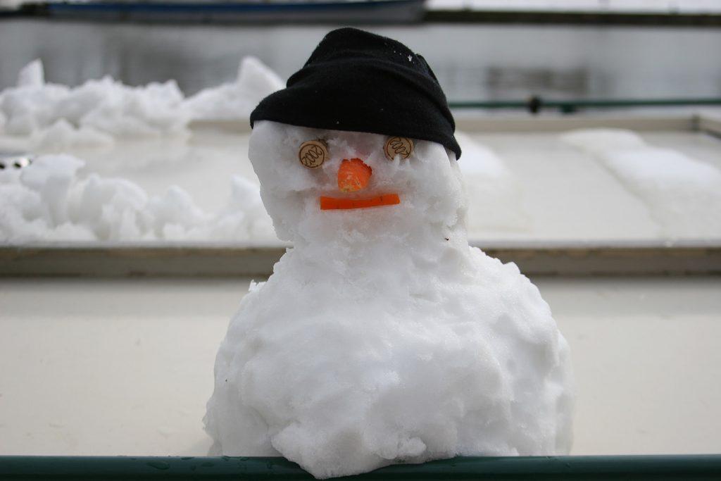 Kinette im Schnee