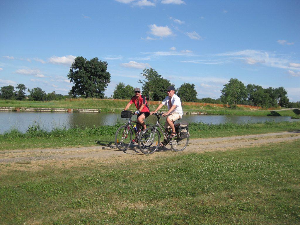 ...und auf dem Fahrrad