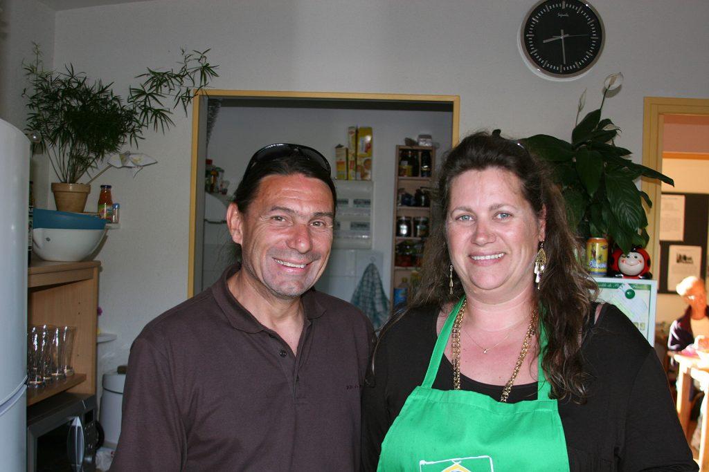 Serge und Nathalie bewirten uns in Fleury s/Loire
