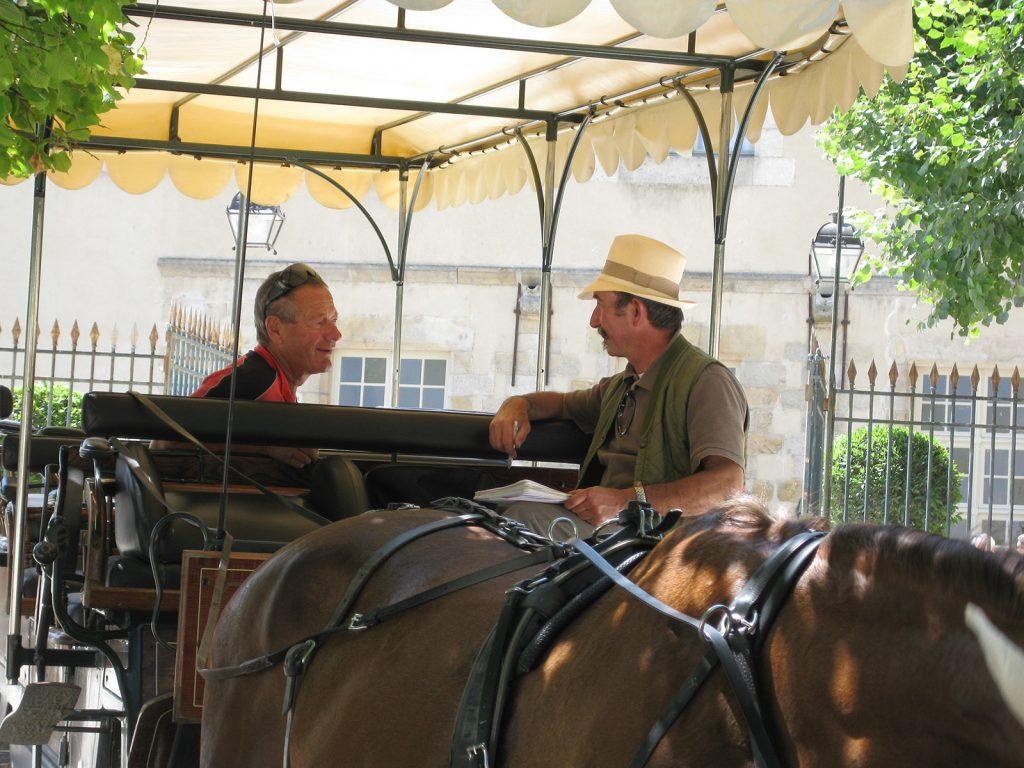 Unterwegs mit dem Kutscher von Fontainebleau