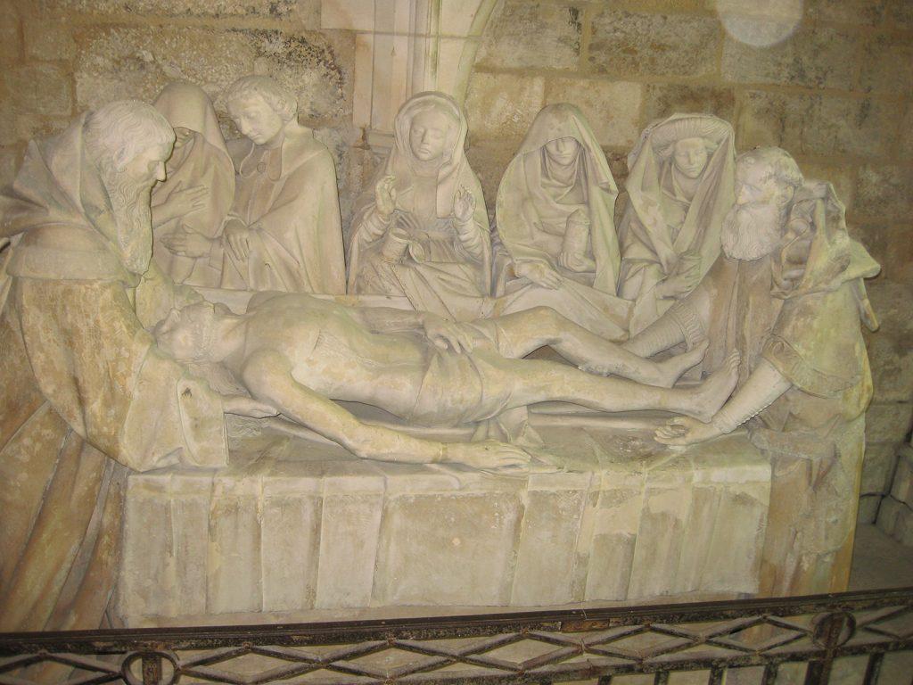 Die berühmte Grablegung im Hôtel Dieu in Tonnerre