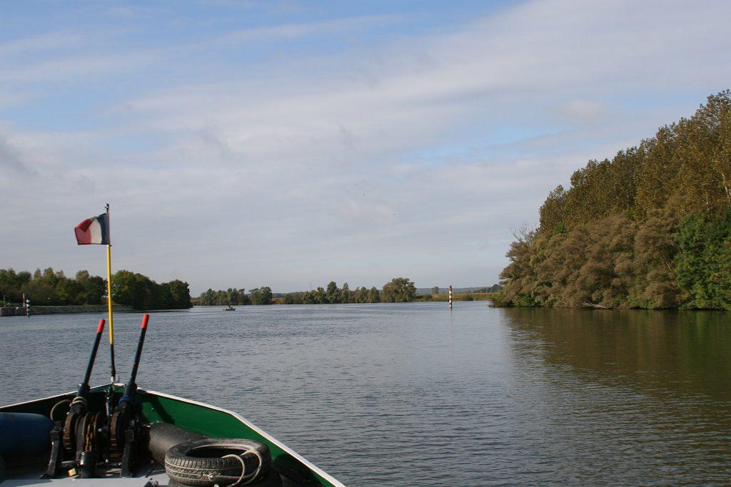 Die träge dahinfliessende Saône...