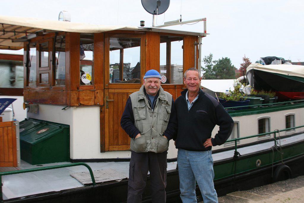 Zusammen mit Philippe Robert, dem Leiter der Locaboat-Basis
