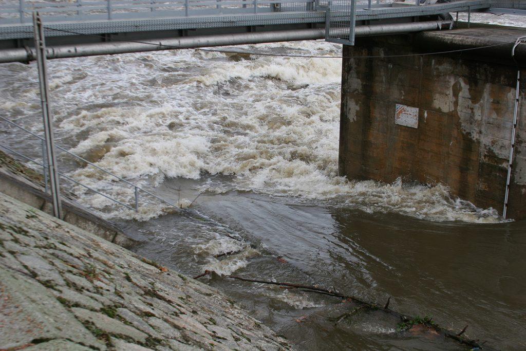 Die gleiche Stelle bei Hochwasser