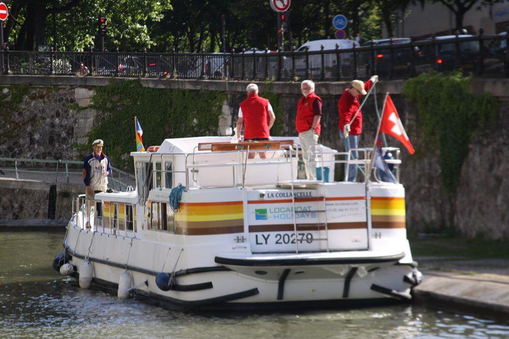Unverkennbar eine Schweizer Crew