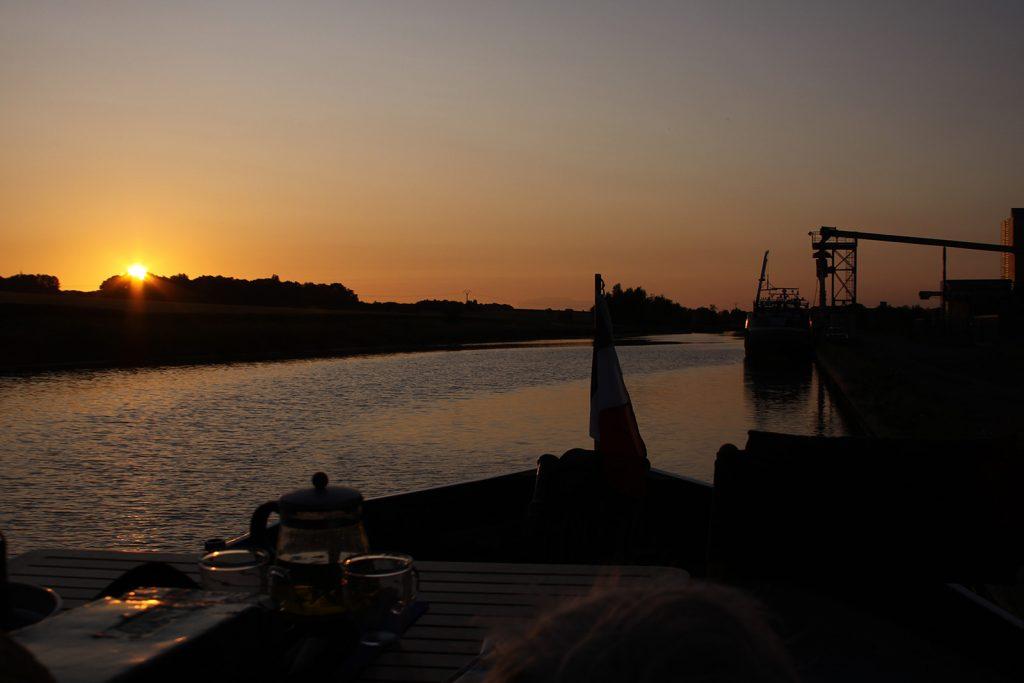 Abendstimmung am Siloquai in Noyon