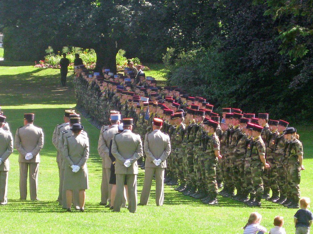 Kommandoübergabe des 42. Infanterieregiments