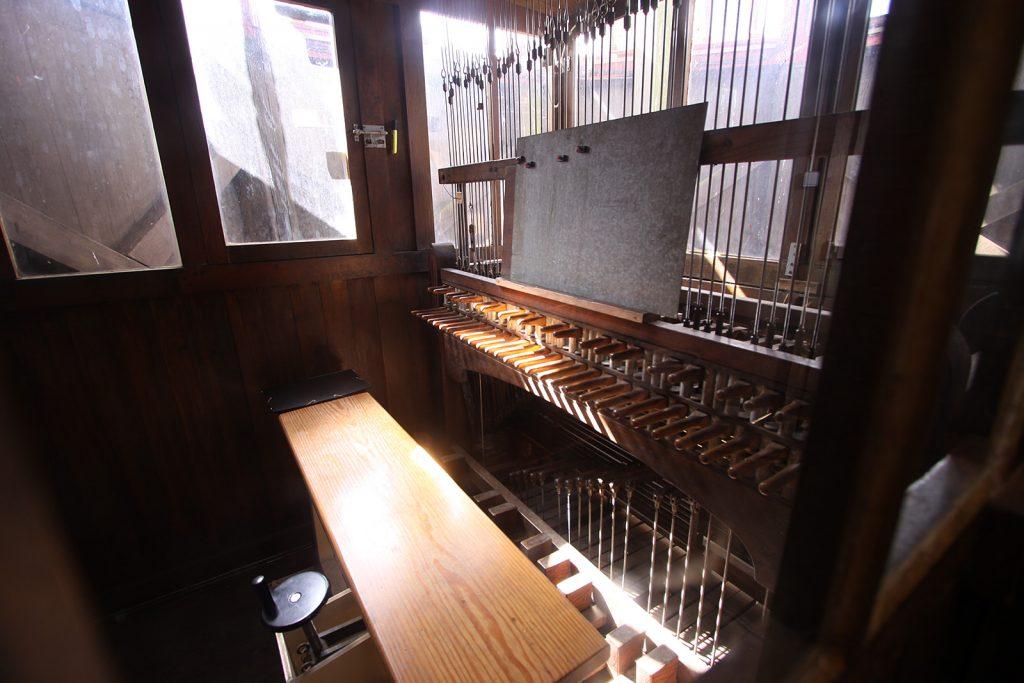 Tastatur eines Glockenspiels