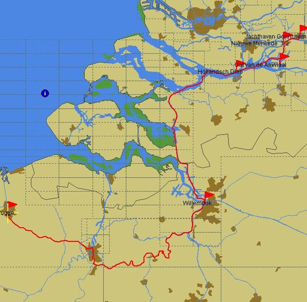 Fahrtroute Gent – Gorinchem