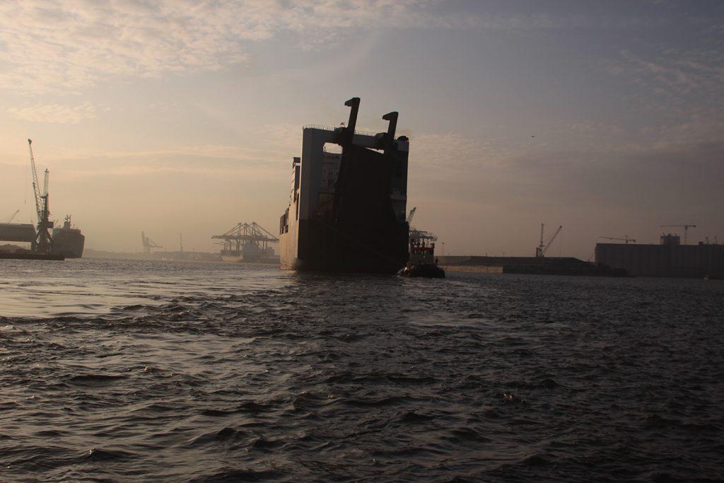 Morgenstimmung im Hafen von Antwerpen