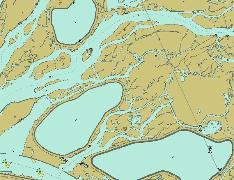 Das Labyrinth des Naturreservates Biesbosch auf der Karte