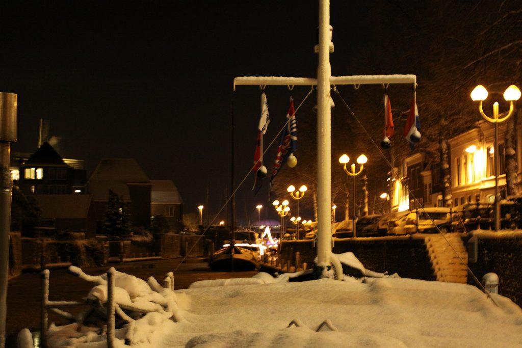 Kinette im niederländischen Winter