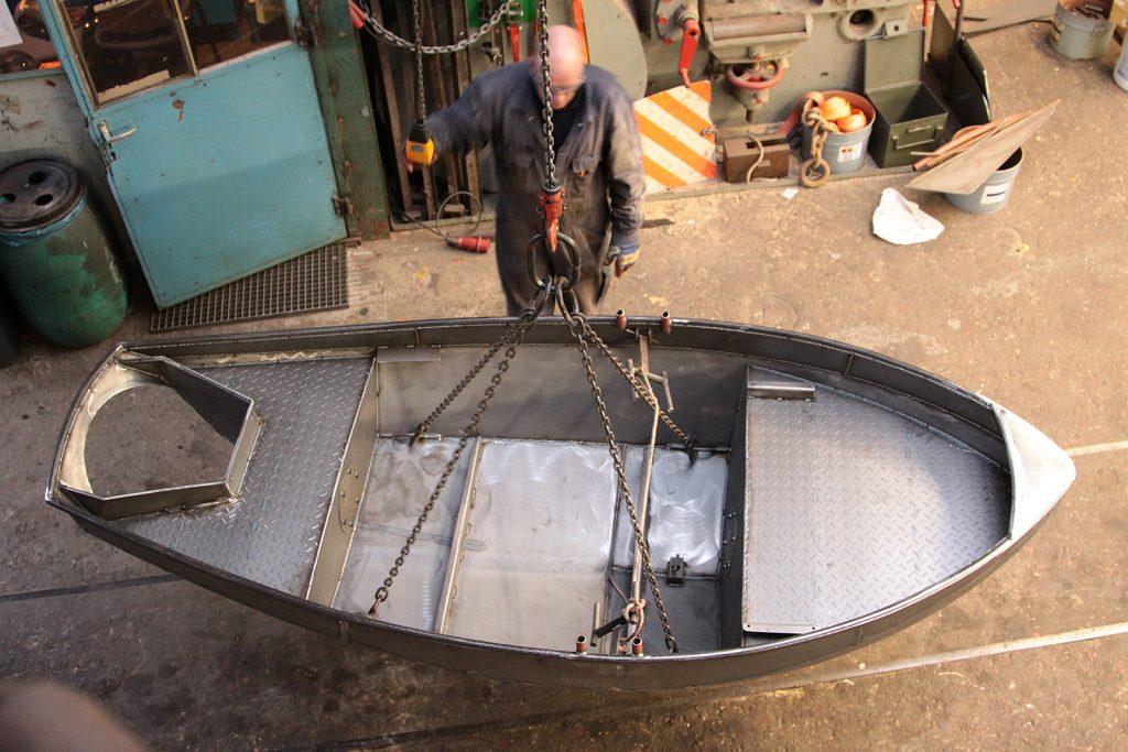 16:30 Uhr: Das Boot ist bereit zum Malen