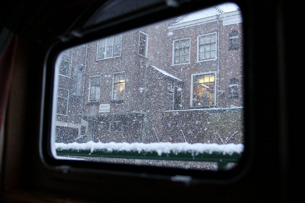Fröhliches Schneetreiben – für die Niederlande völlig ungewohnt