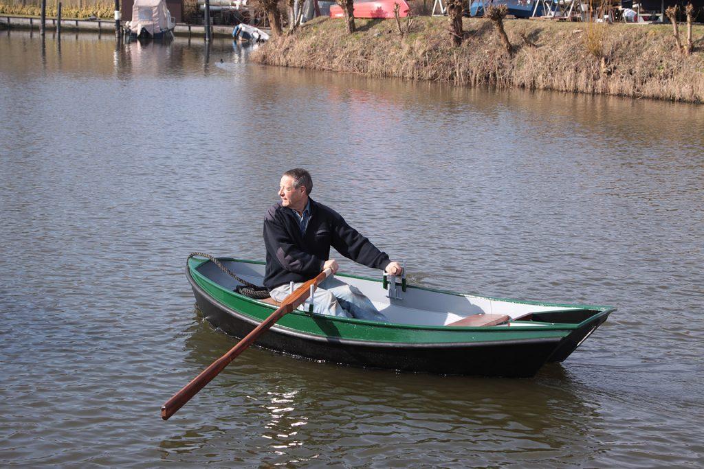 Das neue Beiboot auf seiner Jungernfahrt