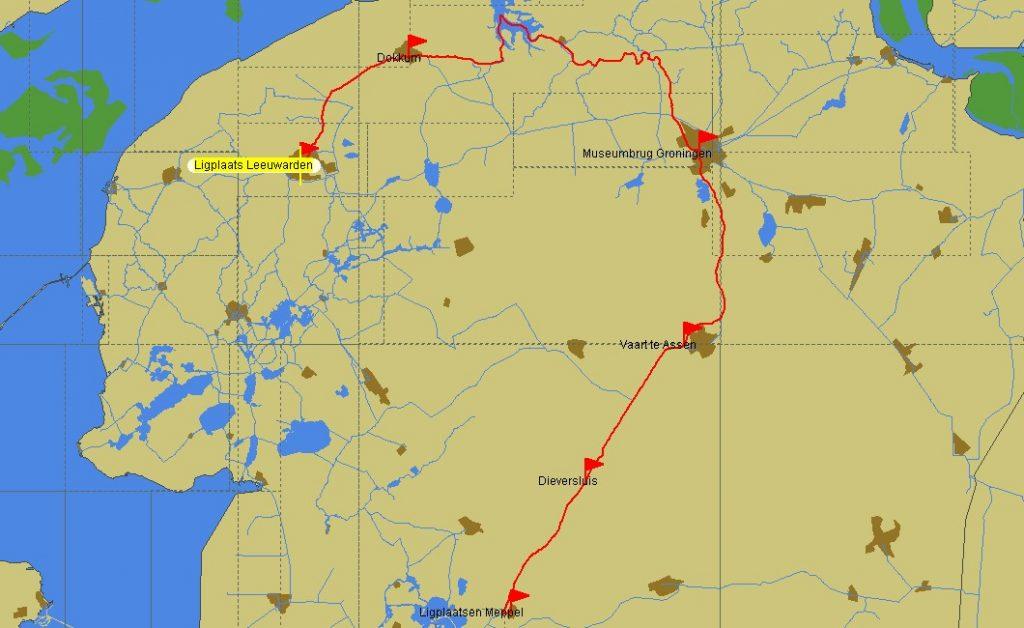 Route Leeuwarden – Meppel