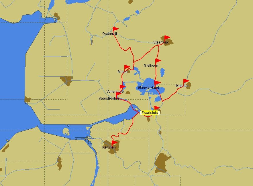 Das Steenwijkerland und Umgebung als Fahrgebiet