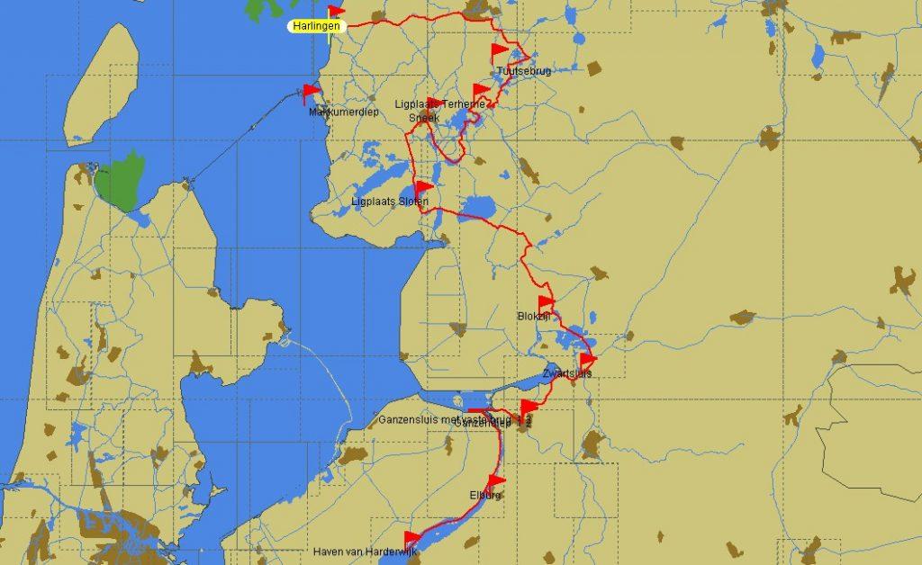Fahrstrecke (Karte: PC-Navigo)