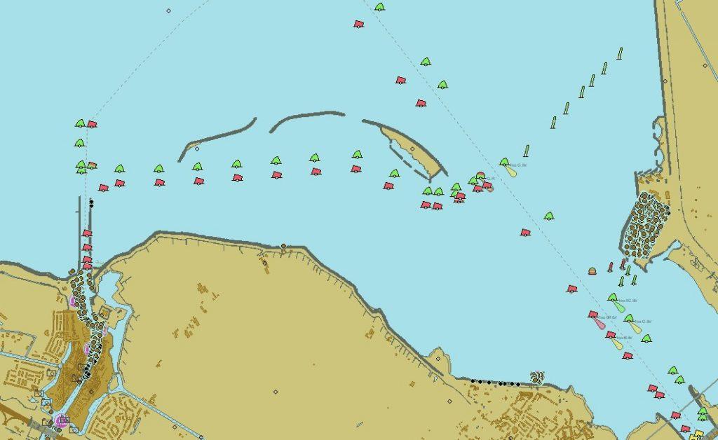 Der Schleichweg nach Muiden im Schutz dreier Inselchen
