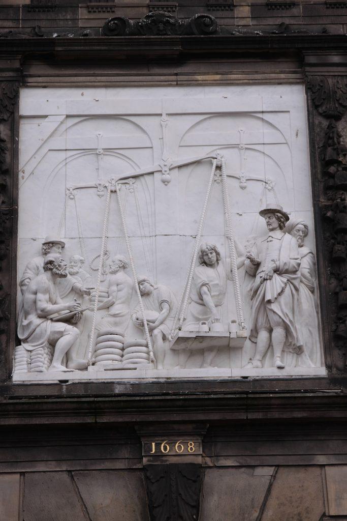 Darstellung des Käsewägens in Gouda