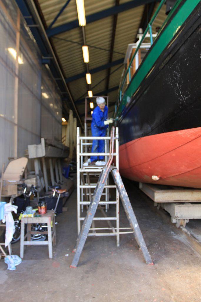 Kinette auf der Werft